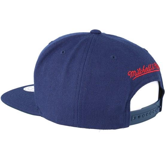 32c7b507142 Denver Nuggets Wool Solid Navy Snapback - Mitchell   Ness caps -  Hatstoreworld.com