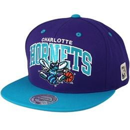 Mitchell   Ness Charlotte Hornets Team Arch Purple Teal Snapback - Mitchell    Ness CA  39.99 e14dcdada73