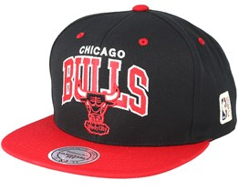 Chicago Bulls Team Arch Black/Red Snapback - Mitchell & Ness