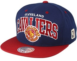 Cleveland Cavaliers Team Arch Navy/Red Snapback - Mitchell & Ness