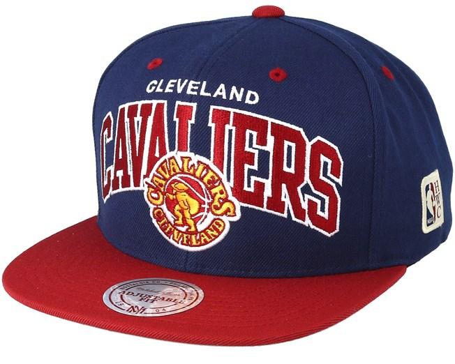 b463d83cc56 Cleveland Cavaliers Team Arch Navy Red Snapback - Mitchell   Ness caps -  Hatstoreaustralia.com
