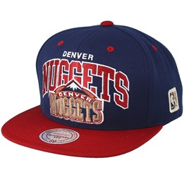 34195158 Mitchell & Ness Denver Nuggets Team Arch Navy/Burgundy Snapback - Mitchell  & Ness ₹ 2,500