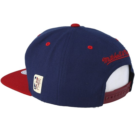 brand new 6402d e04cc Denver Nuggets Team Arch Navy Burgundy Snapback - Mitchell   Ness caps -  Hatstoreworld.com