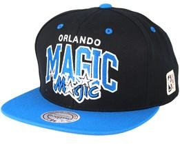 Orlando Magic Team Arch Black/Blue Snapback - Mitchell & Ness