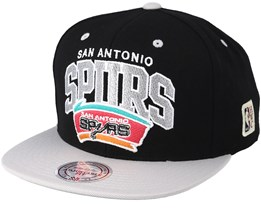 San Antonio Spurs Team Arch Black/Grey Snapback - Mitchell & Ness