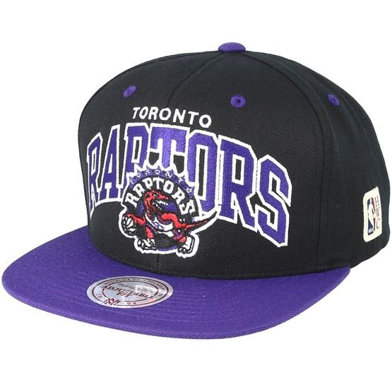 meet d2a79 affa5 Toronto Raptors Team Arch Black Purple Snapback - Mitchell   Ness caps -  Hatstoreworld.com