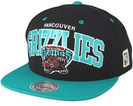Vancouver Grizzlies Team Arch Black/Teal Snapback - Mitchell & Ness