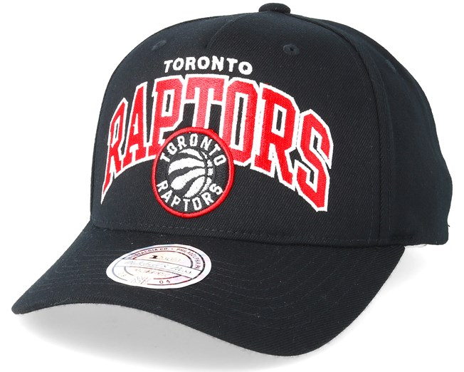 4cd97677 Toronto Raptors Team Arch Pinch Panel Black 110 Adjustable - Mitchell & Ness