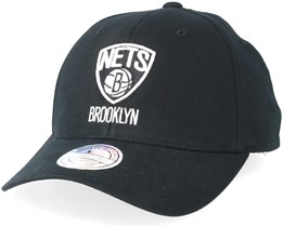 new style fc2cd aa5df Brooklyn Nets Team Arch Low Pro Black 110 Adjustable - Mitchell   Ness