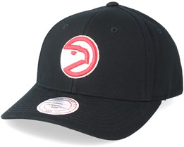 Atlanta Hawks Team Logo Low Pro Black Adjustable - Mitchell & Ness
