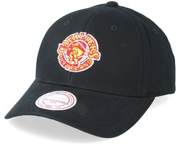 Cleveland Cavaliers Team Logo Low Pro Black Adjustable - Mitchell & Ness