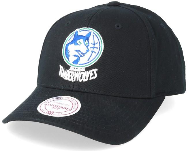 43b61efc98decd Minnesota Timberwolves Team Logo Low Pro Black Adjustable - Mitchell & Ness  cap - Hatstore.co.in
