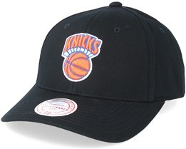 New York Knicks Team Logo Low Pro Black Adjustable - Mitchell & Ness