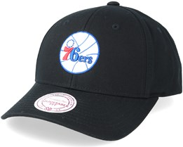 Philadelphia 76ers Team Logo Low Pro Black Adjustable - Mitchell & Ness