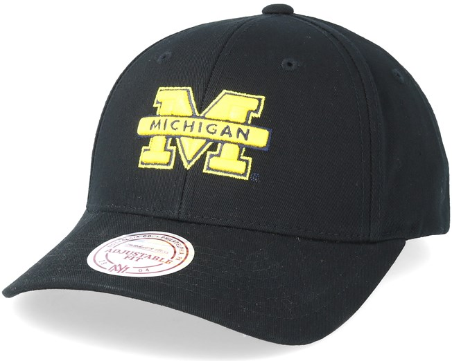 a6eff2d8a0c1b Michigan Wolverines Team Logo Low Pro Black Adjustable - Mitchell ...