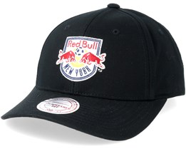 New York Red Bulls Team Logo Low Pro Black Adjustable - Mitchell & Ness