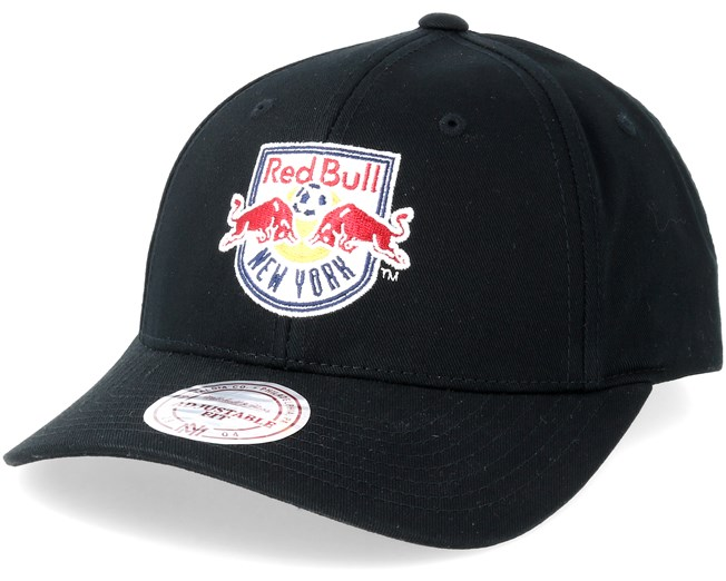 New York Red Bulls Team Logo Low Pro Black Adjustable - Mitchell   Ness cap  - Hatstore.co.in 7061300d37