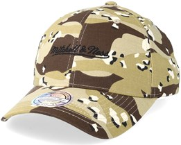 Own Brand Script Low Pro Desert Camo 110 Adjustable - Mitchell & Ness
