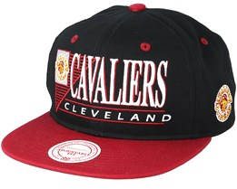 Cleveland Cavaliers Horizon Black/Burgundy Snapback - Mitchell & Ness