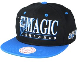 best service 62d99 aed97 Orlando Magic Horizon Black Blue Snapback - Mitchell   Ness