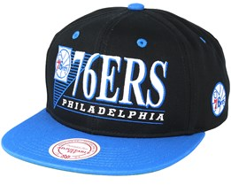 Philadelphia 76ers Horizon Black/Blue Snapback - Mitchell & Ness