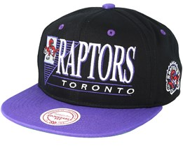 Toronto Raptors Horizon Black/Purple Snapback - Mitchell & Ness