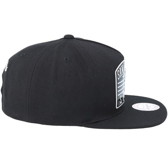 San Antonio Spurs Weald Patch Black Snapback - Mitchell   Ness caps -  Hatstoreworld.com 8f9870a00a9