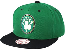 Boston Celtics Zig Zag Green Snapback - Mitchell & Ness