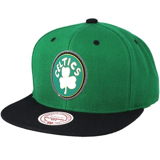 save off f4d07 4c020 Boston Celtics Zig Zag Green Snapback - Mitchell   Ness cap - Hatstore.co.in