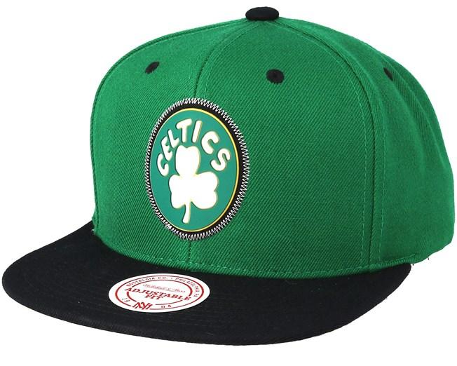 save off 29b3f b895a Boston Celtics Zig Zag Green Snapback - Mitchell   Ness cap - Hatstore.co.in