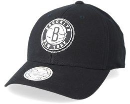Brooklyn Nets Biowashed Zig Zag Black 110 Adjustable - Mitchell & Ness