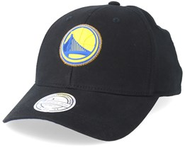 Golden State Warriors Biowashed Zig Zag Black Adjustable - Mitchell & Ness