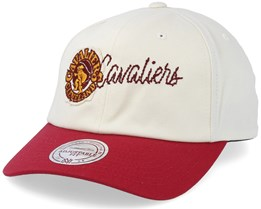 Cleveland Cavaliers Vintage Off White/Burgundy Adjustable - Mitchell & Ness