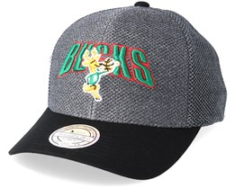 Milwaukee Bucks Flashback Charcoal/Black 110 Adjustable - Mitchell & Ness