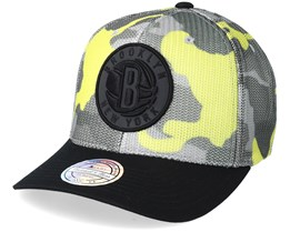 Brooklyn Nets Flou Camo 110 Adjustable - Mitchell & Ness