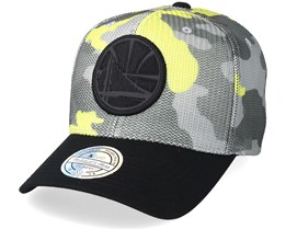 Golden State Warriors Flou Camo 110 Adjustable - Mitchell & Ness