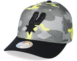 San Antonio Spurs Flou Camo 110 Adjustable - Mitchell & Ness