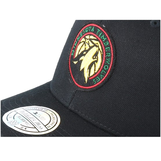 Minnesota Timberwolves Luxe Black 110 Adjustable - Mitchell   Ness - Start  Gorra - Hatstore 46f7fffc641