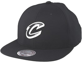 Cleveland Cavaliers Check Black Strapback - Mitchell & Ness