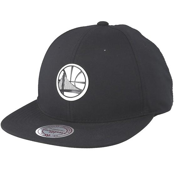 super popular fa519 15b1a Golden State Warriors Check Black Strapback - Mitchell   Ness cap -  Hatstore.co.in