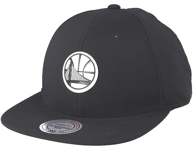 newest a455f 0dd8f Golden State Warriors Check Black Strapback - Mitchell   Ness caps -  Hatstoreworld.com