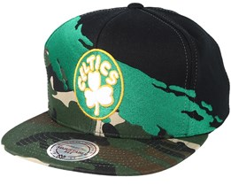 Boston Celtics Hwc Paintbrush Camo Snapback - Mitchell & Ness