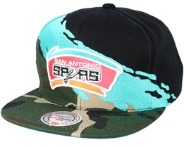 San Antonio Spurs Hwc Paintbrush Camo Snapback - Mitchell & Ness