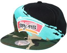 San Antonio Spurs Hwc Paintbrush Camo Snapback - Mitchell   Ness 95b29c9db68
