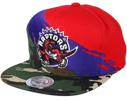 Toronto Raptors Hwc Paintbrush Camo Snapback - Mitchell & Ness