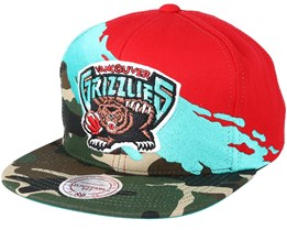 Vancouver Grizzlies Hwc Paintbrush Camo Snapback - Mitchell & Ness