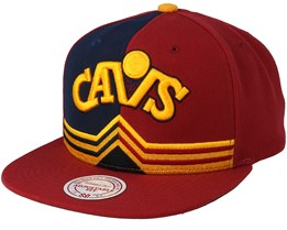 Cleveland Cavaliers Hwc Reflective 2 Tone Maroon Snapback - Mitchell & Ness