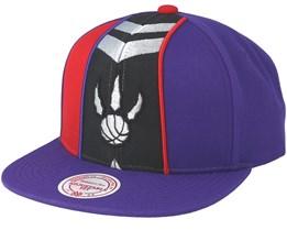 Toronto Raptors Short Split Purple/Red Snapback - Mitchell & Ness