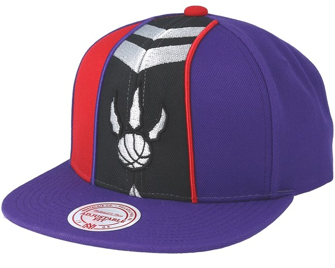 7d8602c4f78a2a Toronto Raptors Short Split Purple/Red Snapback - Mitchell & Ness cap -  Hatstore.co.in