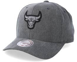 Chicago Bulls Washed Heather Black Adjustable - Mitchell & Ness